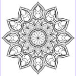 Coloring Pages For Free Cool Stock Magnificent Mandala From Free Coloring Book For Adults