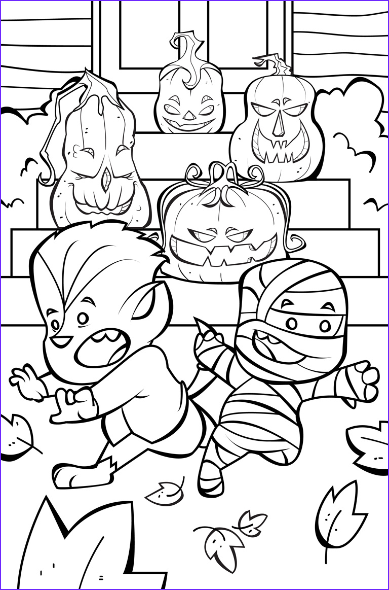 Happy Halloween Coloring Pages coloringsuite