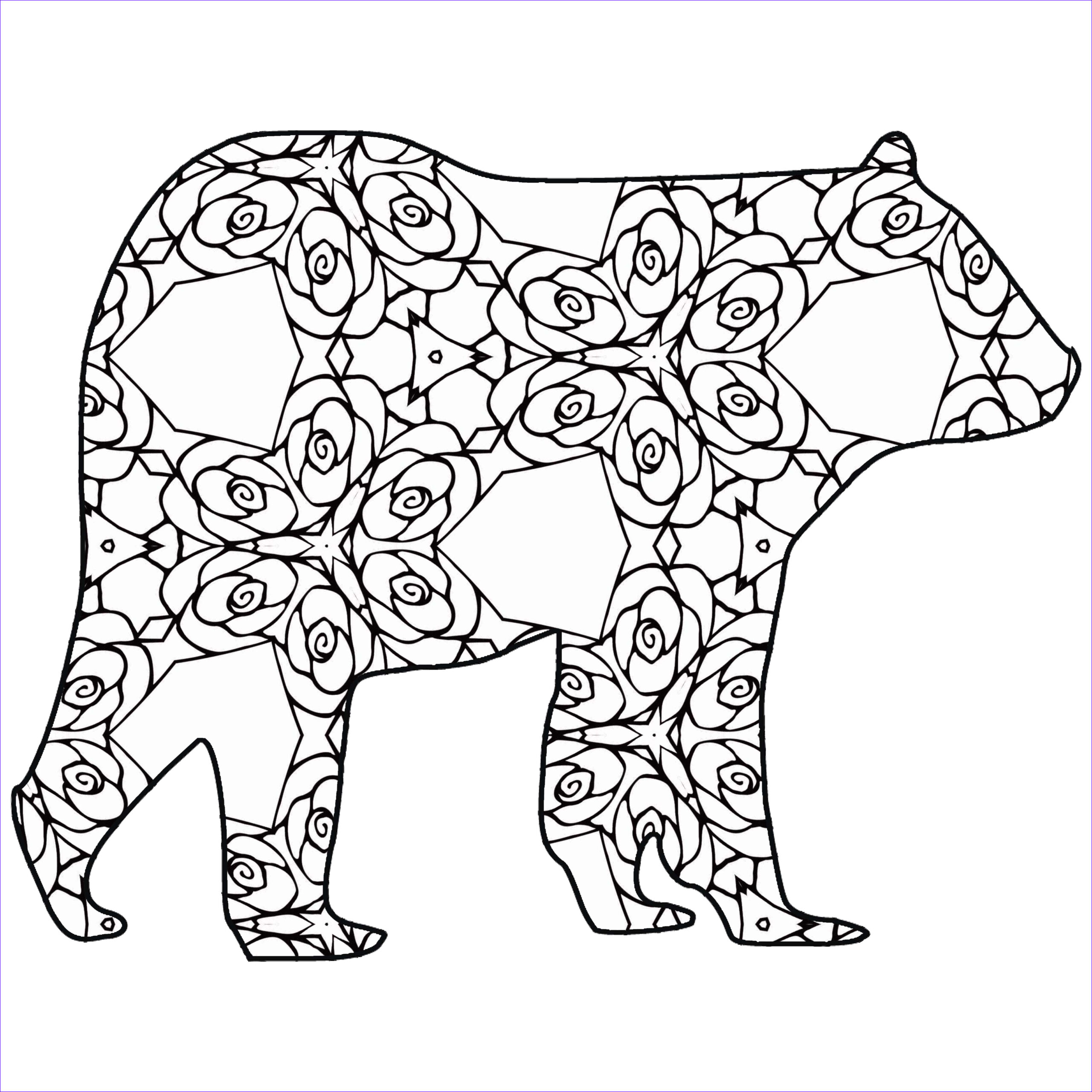 Coloring Pages Of Animals Beautiful Images 30 Free Printable Geometric Animal Coloring Pages