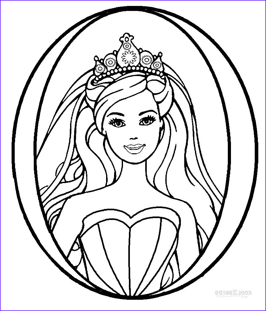 Coloring Pages Of Barbie Cool Photos Printable Barbie Princess Coloring Pages for Kids
