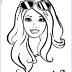 Coloring Pages Of Barbie Unique Photos Barbie Ready For The Summer Sun Coloring Pages Hellokids
