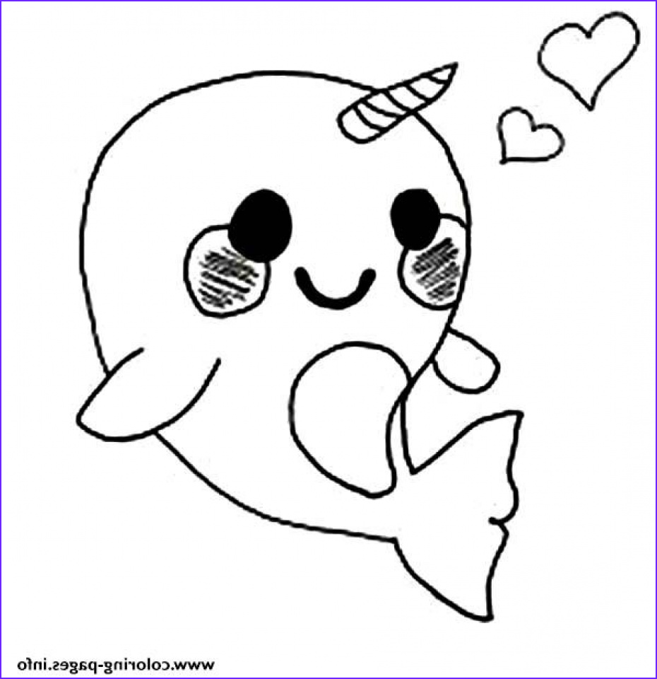 printable narwhal coloring pages online