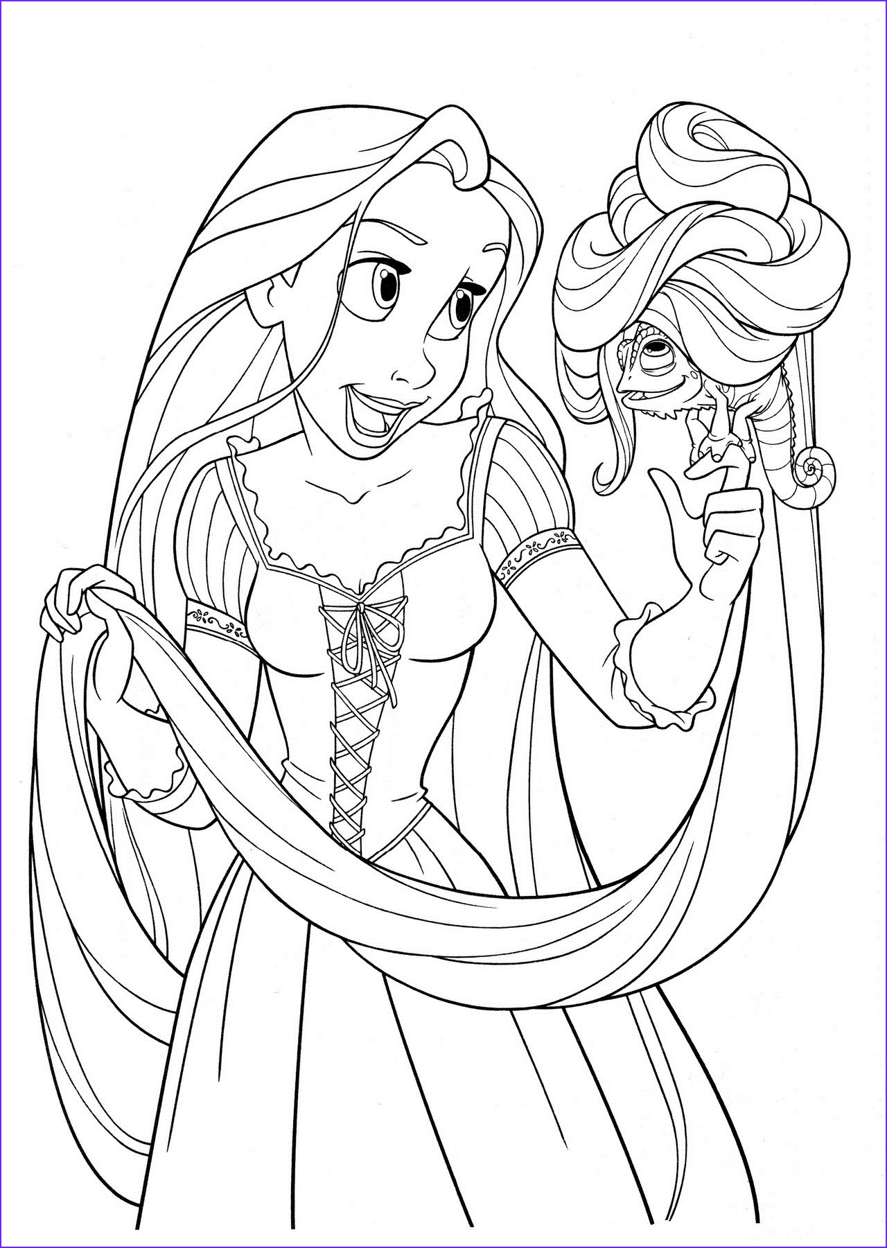 Coloring Pages to Print Best Of Images Free Printable Tangled Coloring Pages for Kids