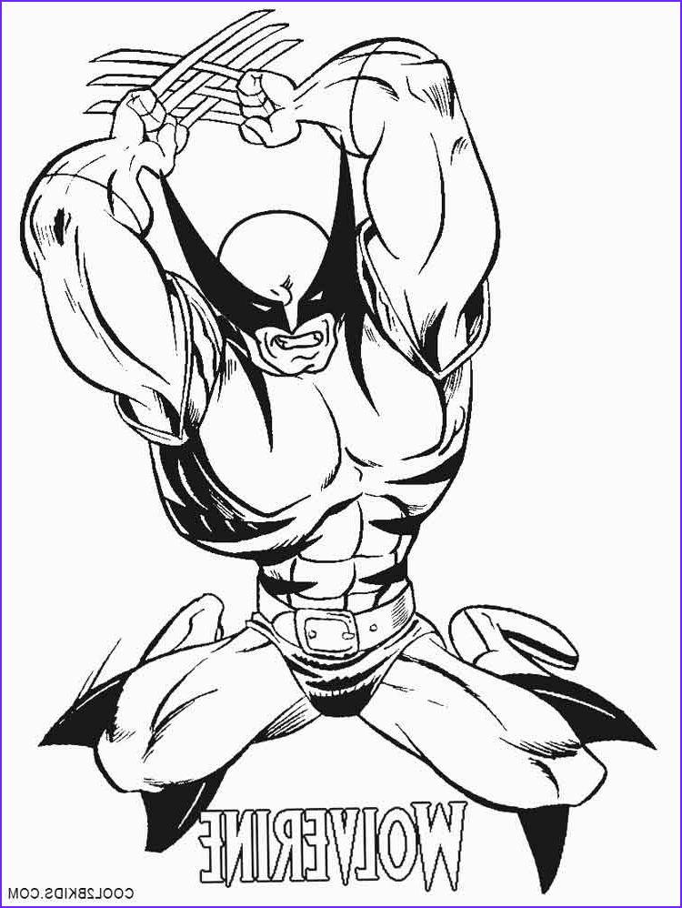 Coloring Pags Cool Stock Printable Wolverine Coloring Pages for Kids