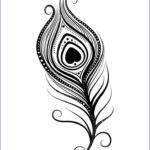 Coloring Peacock Feathers Beautiful Gallery Peacock Feather Coloring Page