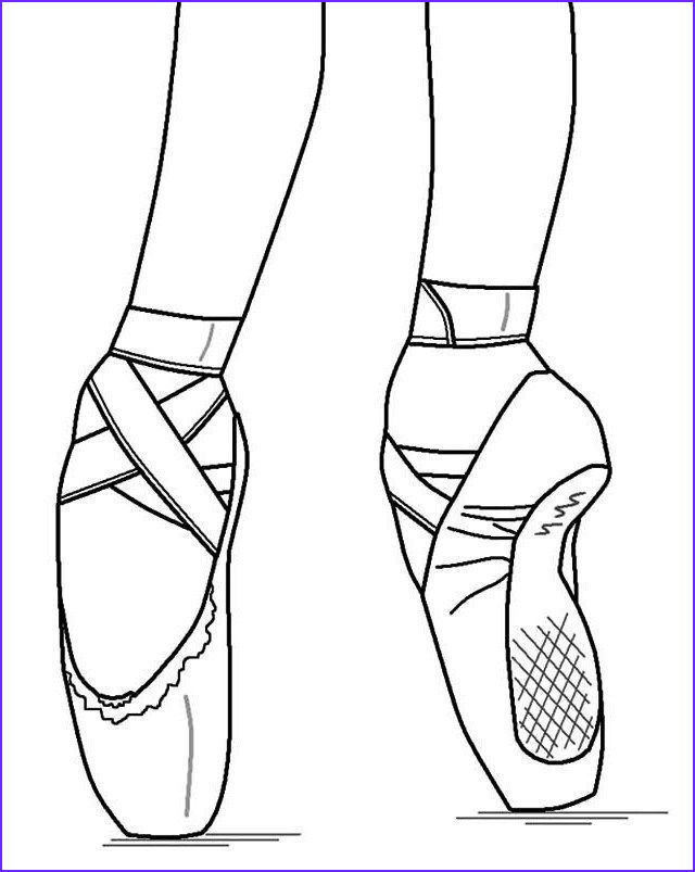 Coloring Pointe Shoes Best Of Photography Pointe Ballet Ballerina Shoes Coloring Pages