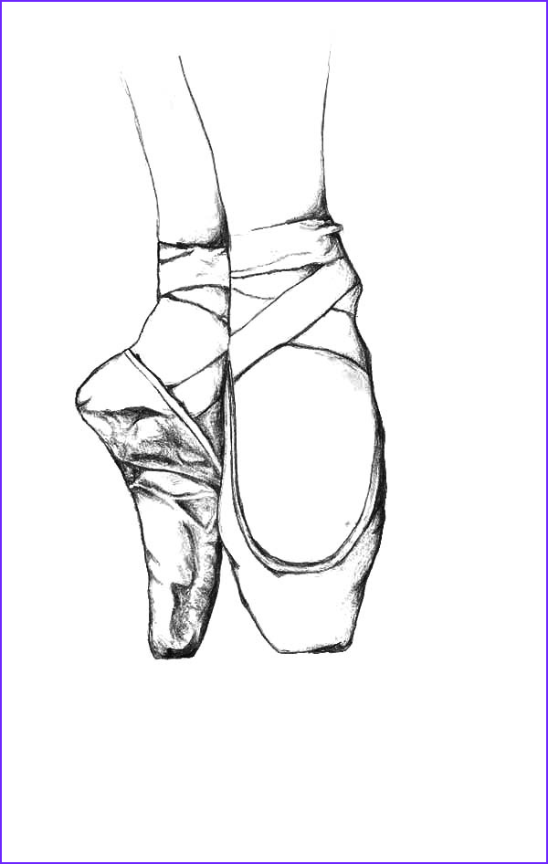 pictures of ballet shoes to color
