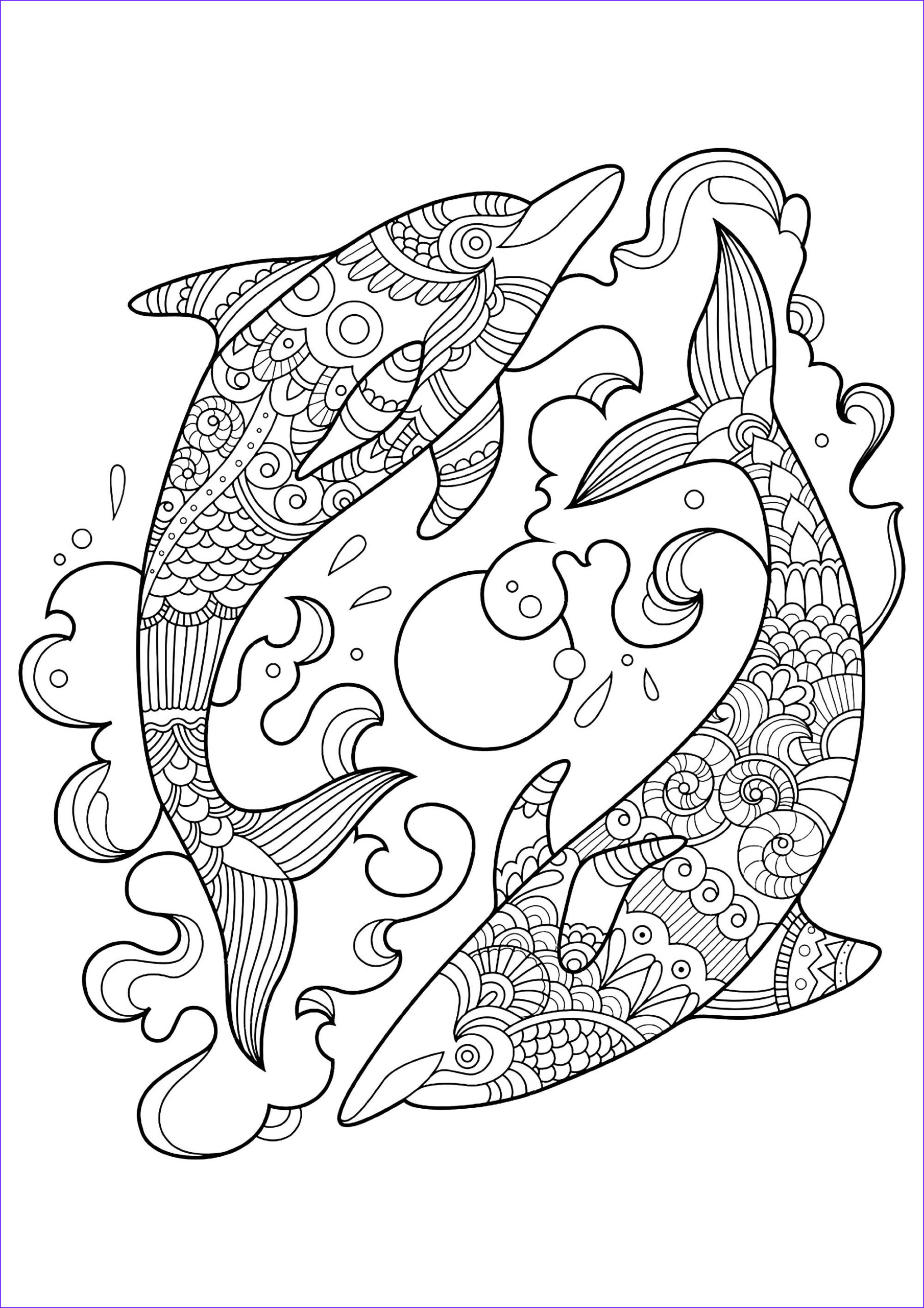 Coloring Sheets for toddlers Elegant Image Dolphins to Color for Children Dolphins Kids Coloring Pages
