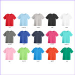 Coloring Shirts Beautiful Photos Toddler Tee Shirt 6 Pack Assorted Colors 2t 5 6t Sizes