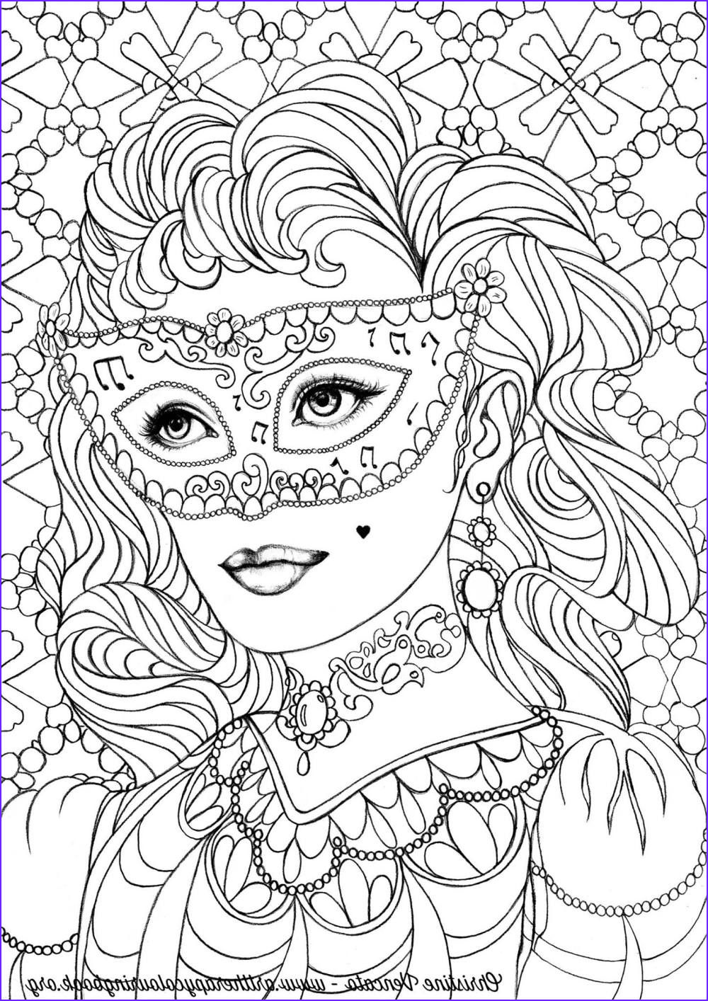 Coloring therapy for Adults New Collection Free Coloring Page From Adult Coloring Worldwide Art by