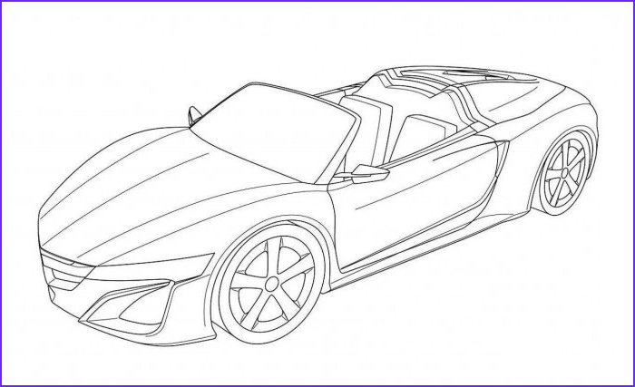 Cool Car Coloring Pages Beautiful Gallery S Cool Sports Cars Drawing Outline Drawings Art