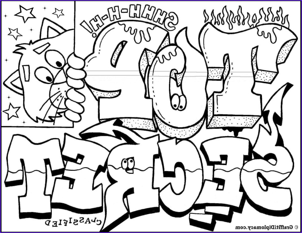 """Cool Coloring Sheets Best Of Image Graffiti Coloring Book """"because Y S A Crooked Letter"""" by"""