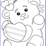 Crayola Coloring Pages Awesome Photography Valentine S Teddy Bear Coloring Page