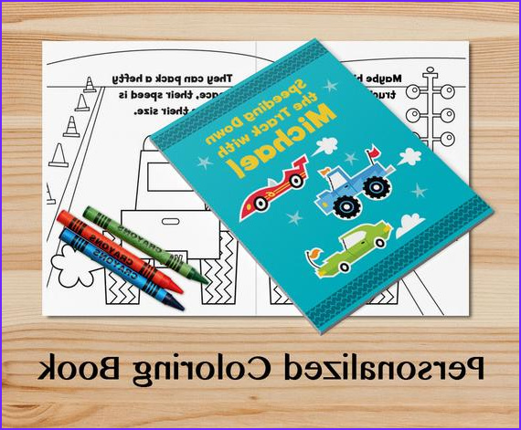 personalized trucks coloring book a