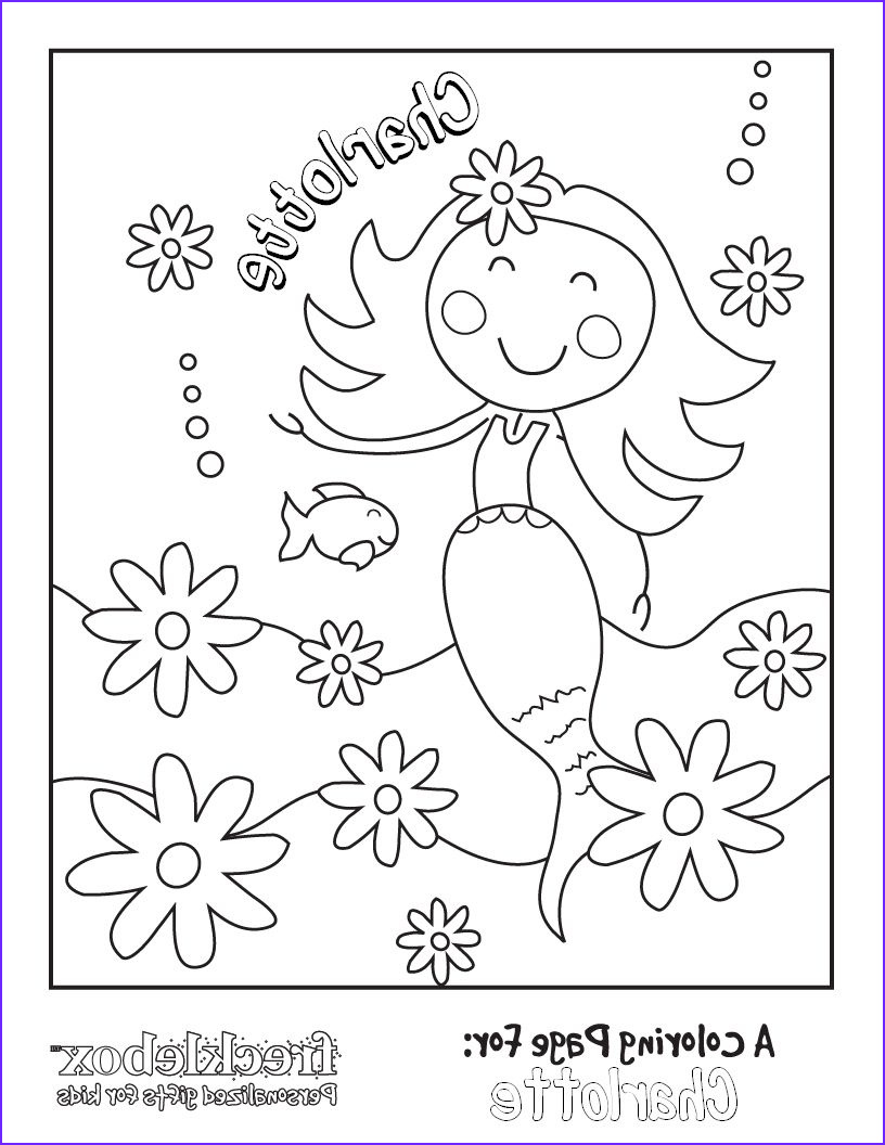 Free custom coloring pages Char will love this mermaid
