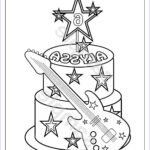 Custom Coloring Page Luxury Photos Personalized Printable Rockstar Cake Birthday By