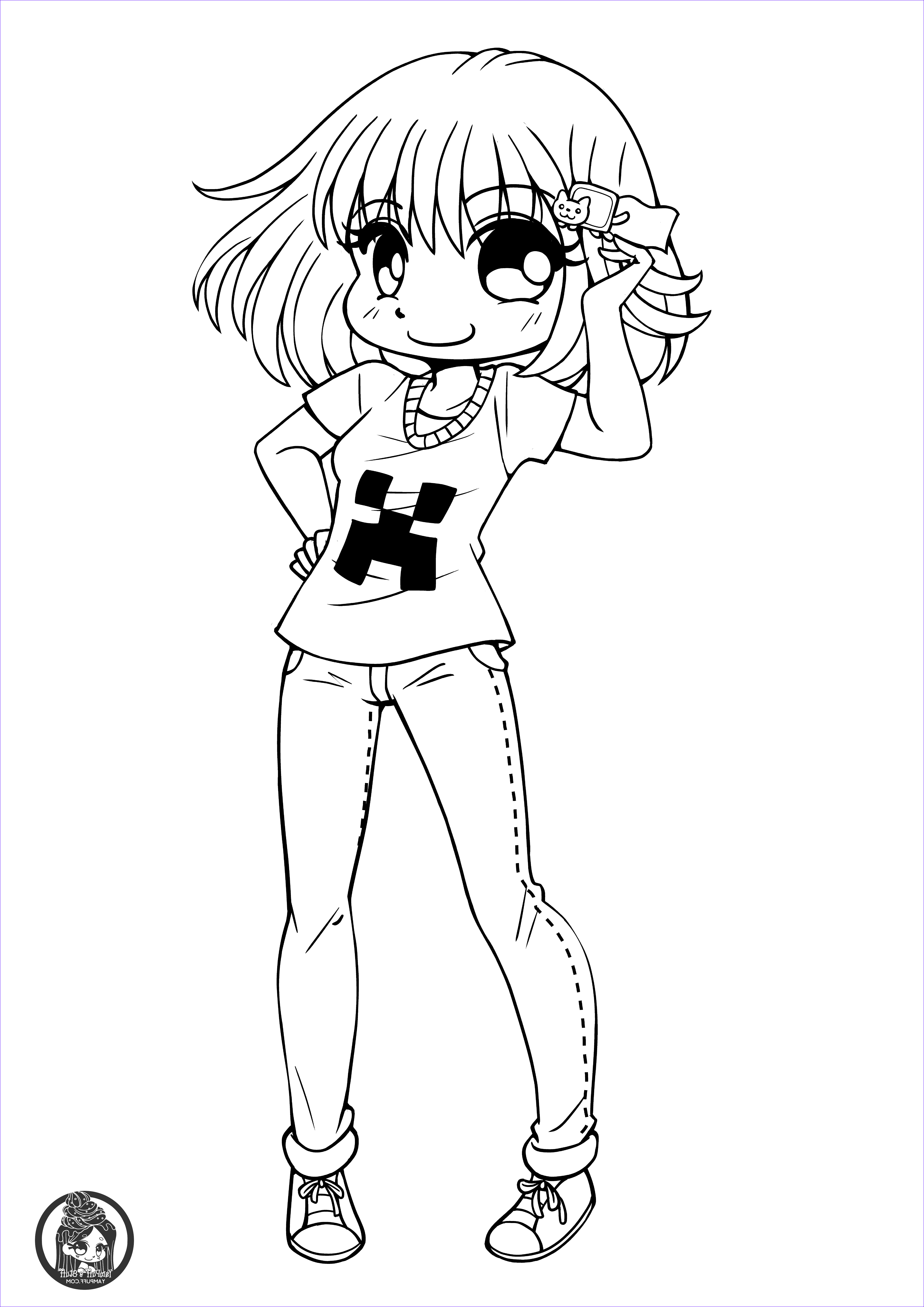 Cute Anime Coloring Pages Inspirational Gallery Chibis Free Chibi Coloring Pages • Yampuff S Stuff
