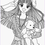 Cute Anime Coloring Pages Inspirational Photos Anime Girl Coloring Pages Coloringsuite