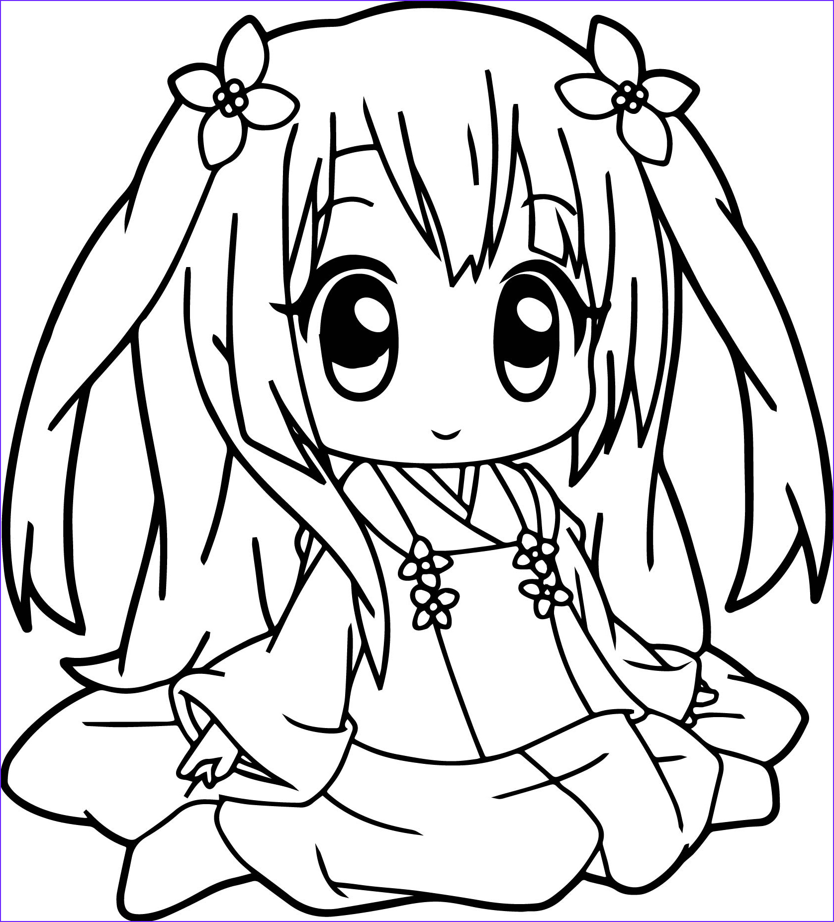Cute Anime Coloring Pages Luxury Photography Anime Girl Coloring Pages Coloringsuite