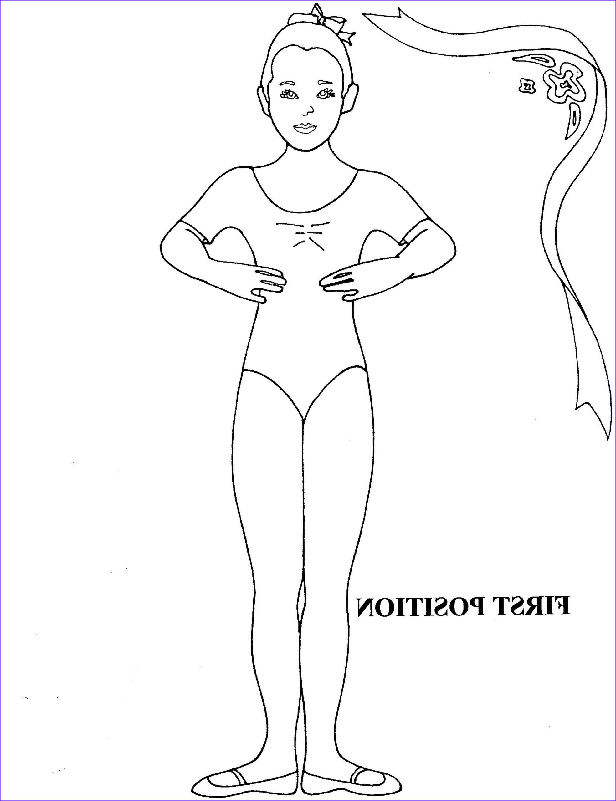 Dance Coloring Pages Elegant Photography Ballet First Position Coloring Sheet