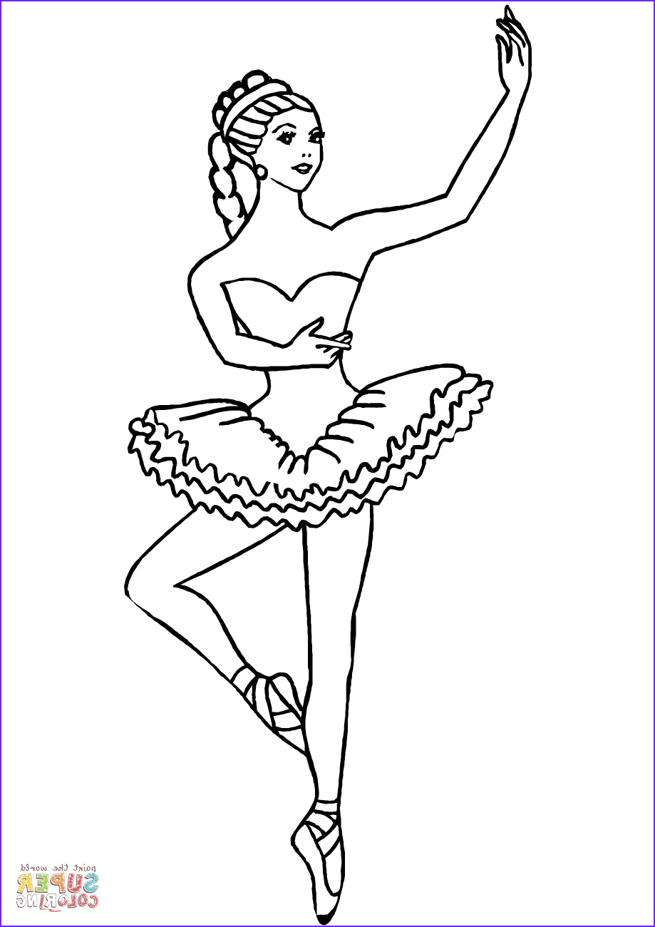 Dance Coloring Pages Inspirational Collection Ballerina Coloring Page
