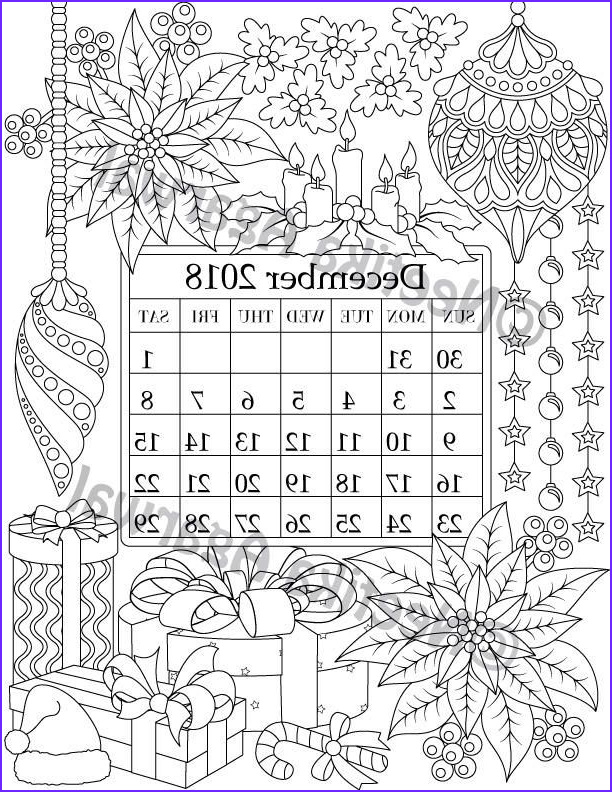 December Coloring Pages Luxury Image December 2018 Coloring Page Calender Planner Doodle