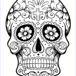 Dia De Los Muertos Coloring Pages Beautiful Photos Skull Coloring Pages For Adults