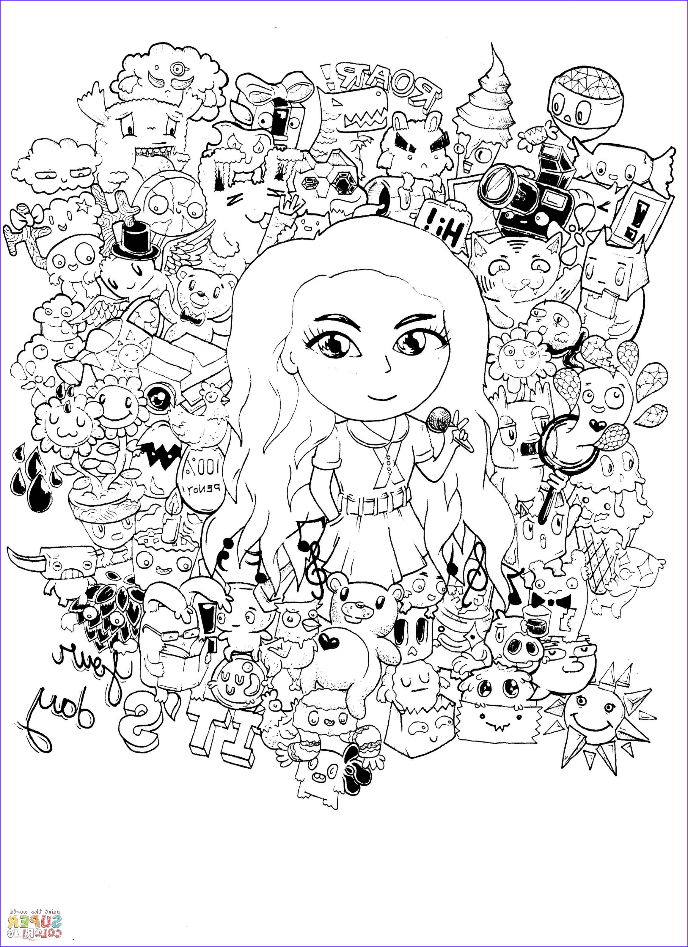 Gorgeous Doodle by Kent Sunglao coloring page