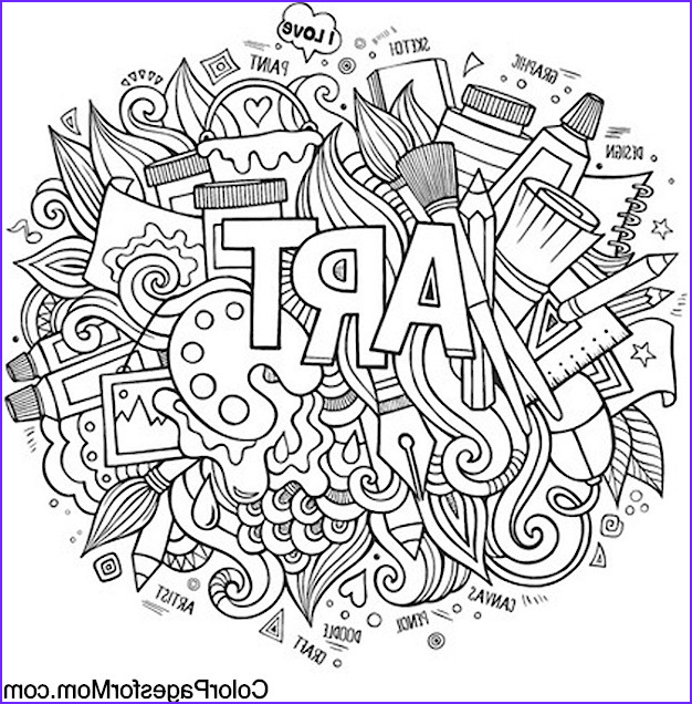 Doodles 24 Advanced Coloring Pages
