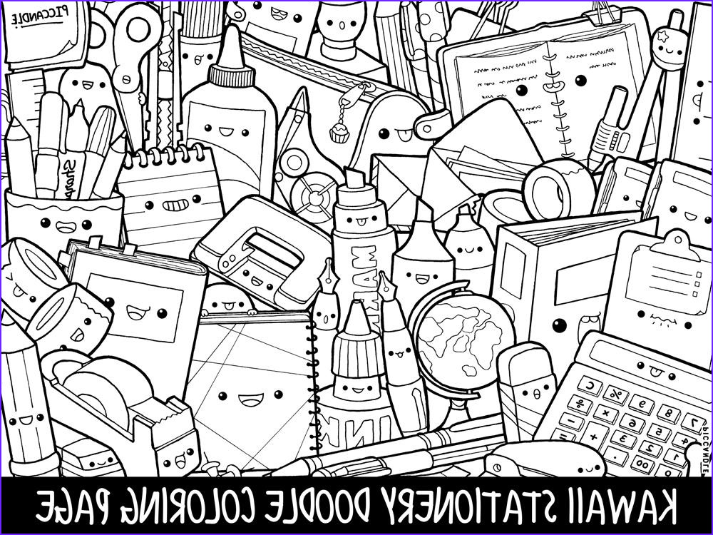 Doodle Coloring Books Unique Gallery Stationery Doodle Coloring Page Printable Cute Kawaii