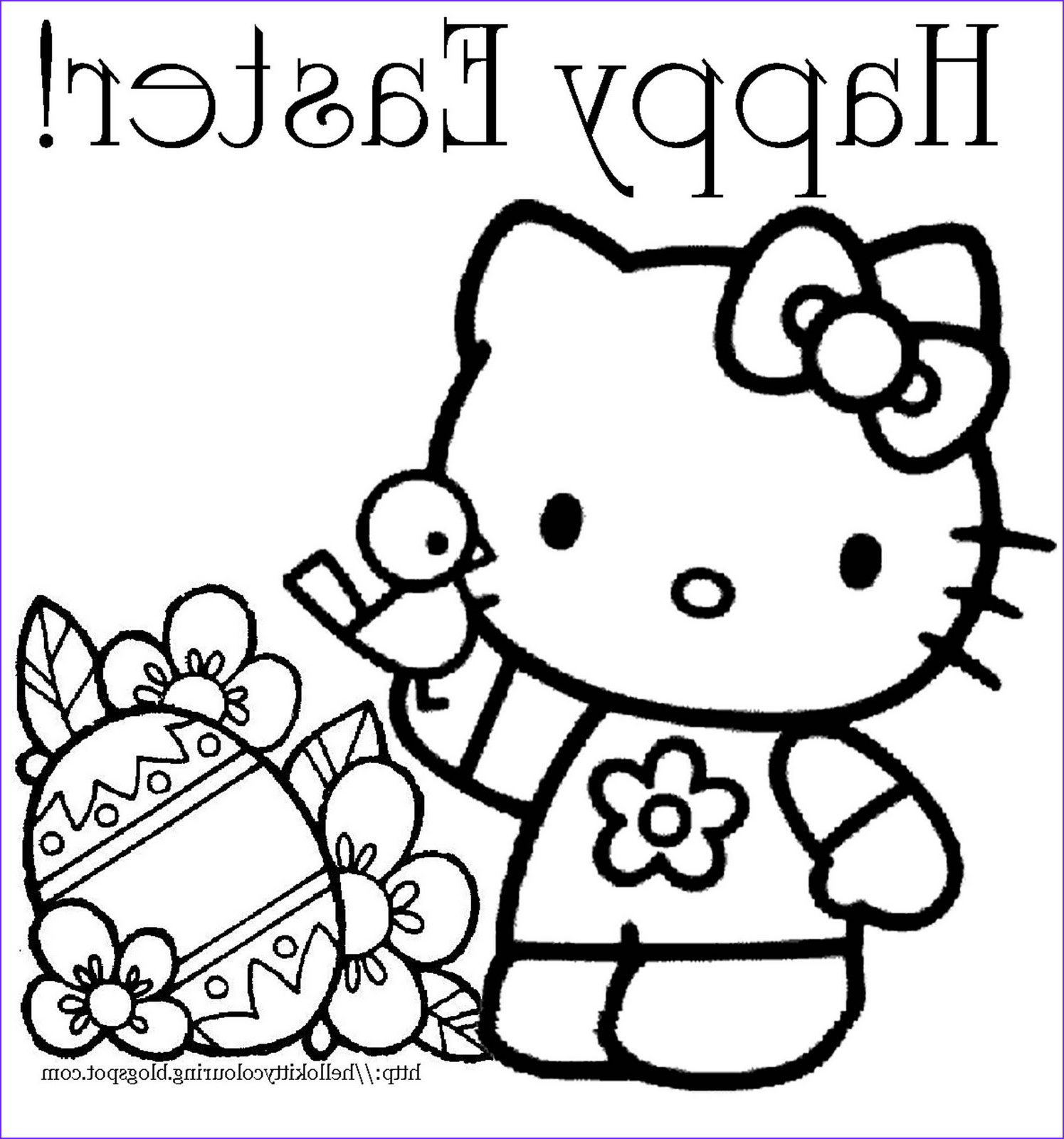 Easter Coloring Book Unique Photography Interactive Magazine Hello Kitty Easter Coloring Page