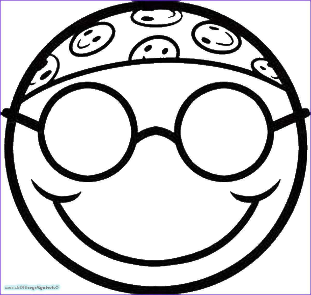 Coloring Pages Sun Glasses Emoji