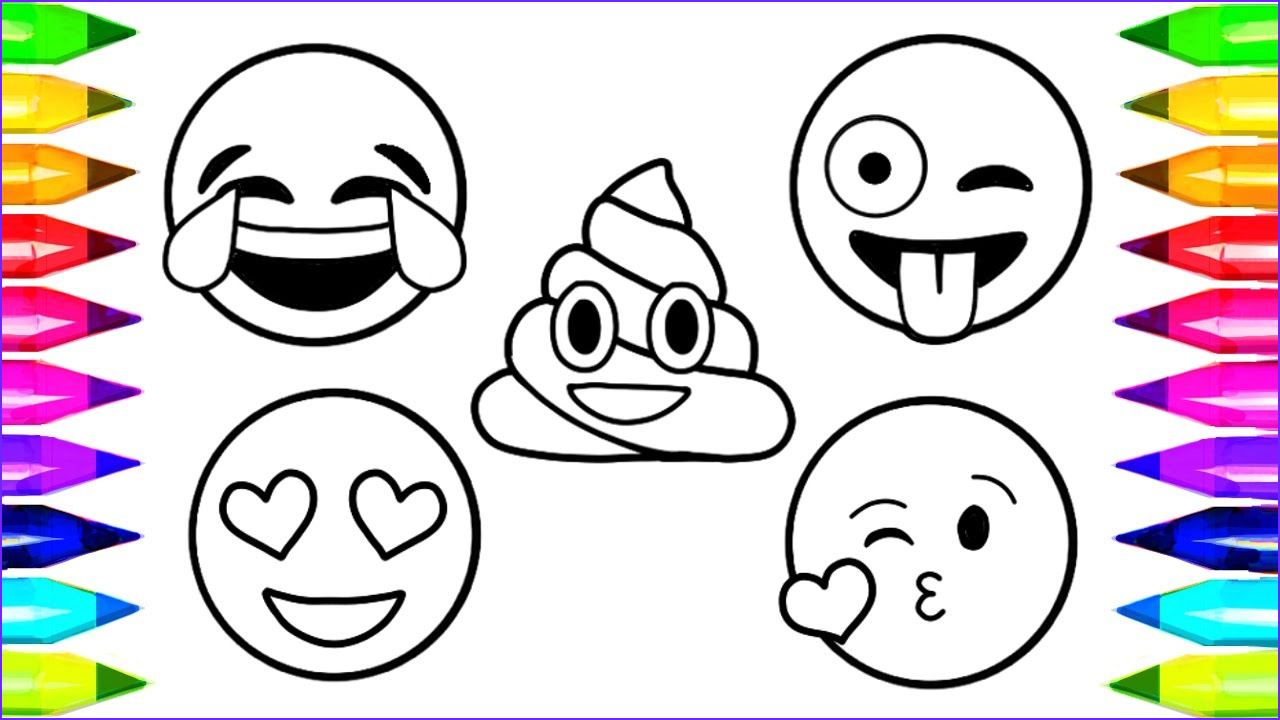 Emoji Coloring Pages Printable New Photos Emoji Coloring Pages