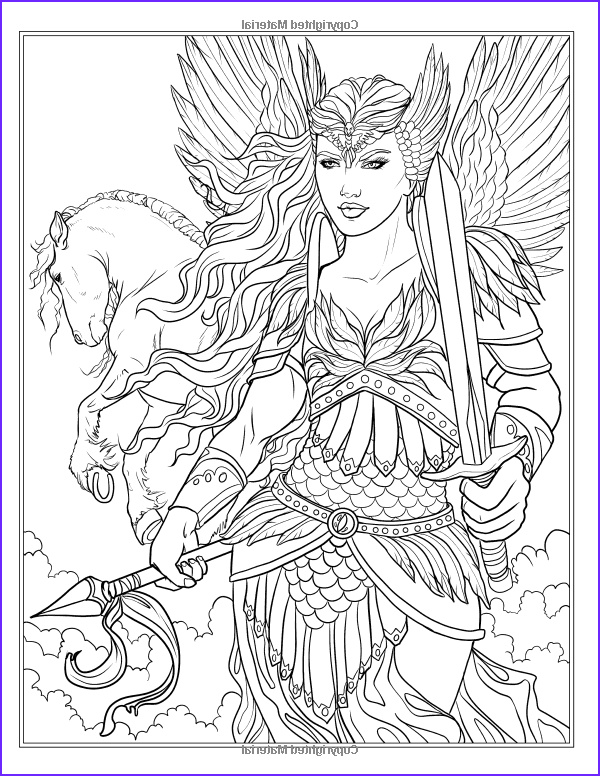 Fantasy Coloring Books for Adults Beautiful Collection Amazon Goddess and Mythology Coloring Book Fantasy