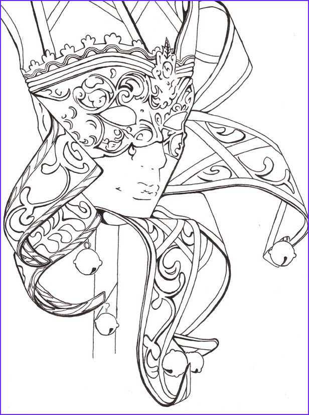 Fantasy Coloring Books for Adults Beautiful Photos Mask Carnival Fantasy Coloring Pages Colouring Adult