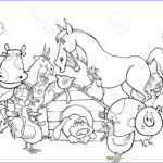 Farm Animals Coloring Pages Cool Image Farm Animals Clipart Group Farmer Pencil And In Color