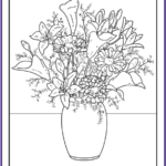 Flower Coloring Pages Pdf Beautiful Collection 102 Flower Coloring Pages Customize and Print Pdf