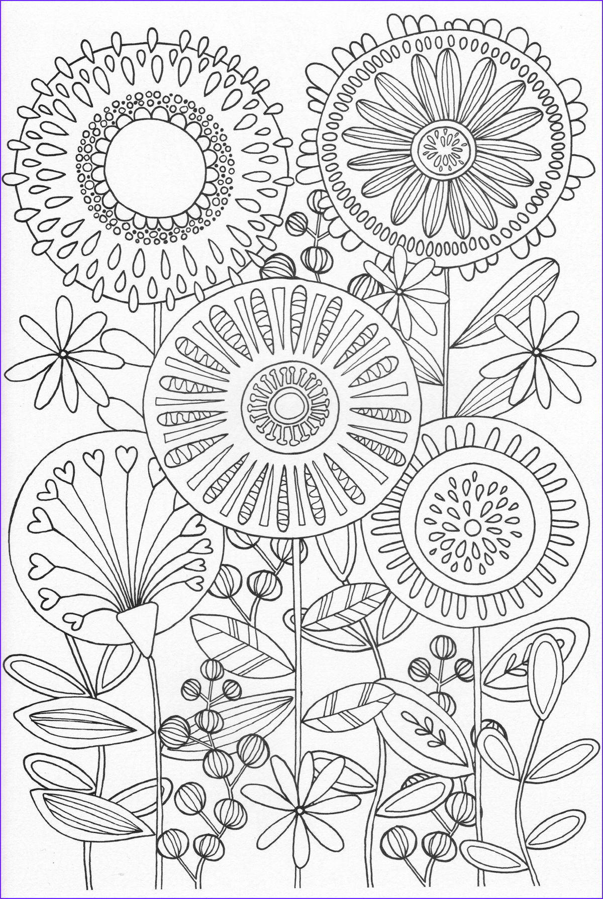 Scandinavian Coloring Book Pg 31 Embroidery