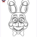 Fnaf Coloring Sheets Beautiful Images Bonnie Face Fnaf Coloring Pages Printable