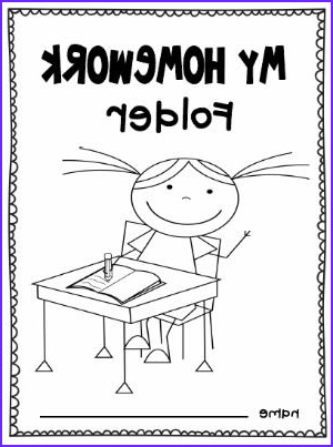 Folder Coloring Inspirational Photos Homework Folder Coloring Page for Boys and Girls