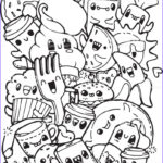 Food Coloring Page Best Of Photos Dining Doodles Breakfast Lunch Dinner Food Coloring Pages