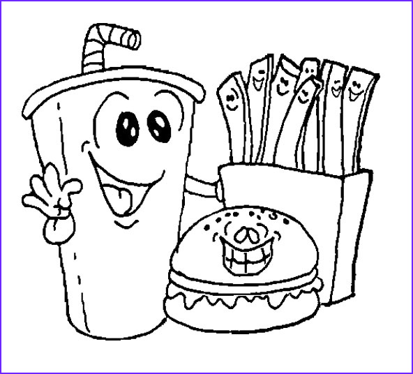 Kawaii Food Coloring Pages Coloring Home