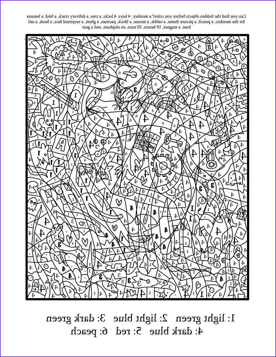 Free Coloring Pages For Adults Printable Hard To Color Inspirational Gallery Difficult Color By Number Printables Coloring Home