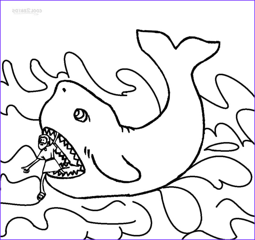 Free Printable Jonah and the Whale Coloring Pages Cool Image Printable Jonah and the Whale Coloring Pages for Kids
