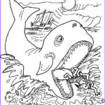Free Printable Jonah And The Whale Coloring Pages Elegant Images Jonah Get Out From Whale Stomach In Jonah And The Whale