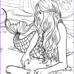 Free Printable Mermaid Coloring Pages Inspirational Photos Artist Selina Fenech Fantasy Myth Mythical Mystical Legend