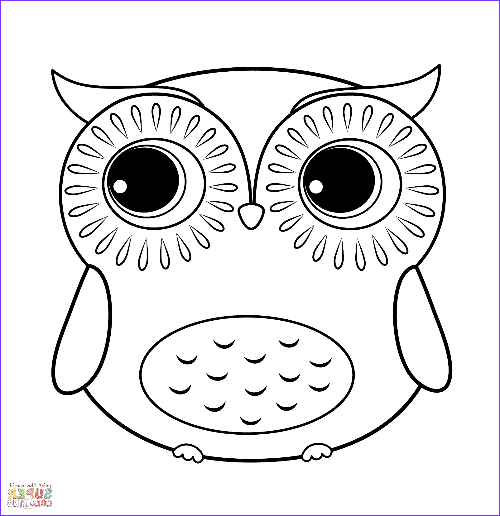 Free Printable Owl Coloring Pages Beautiful Gallery Cartoon Owl Coloring Page