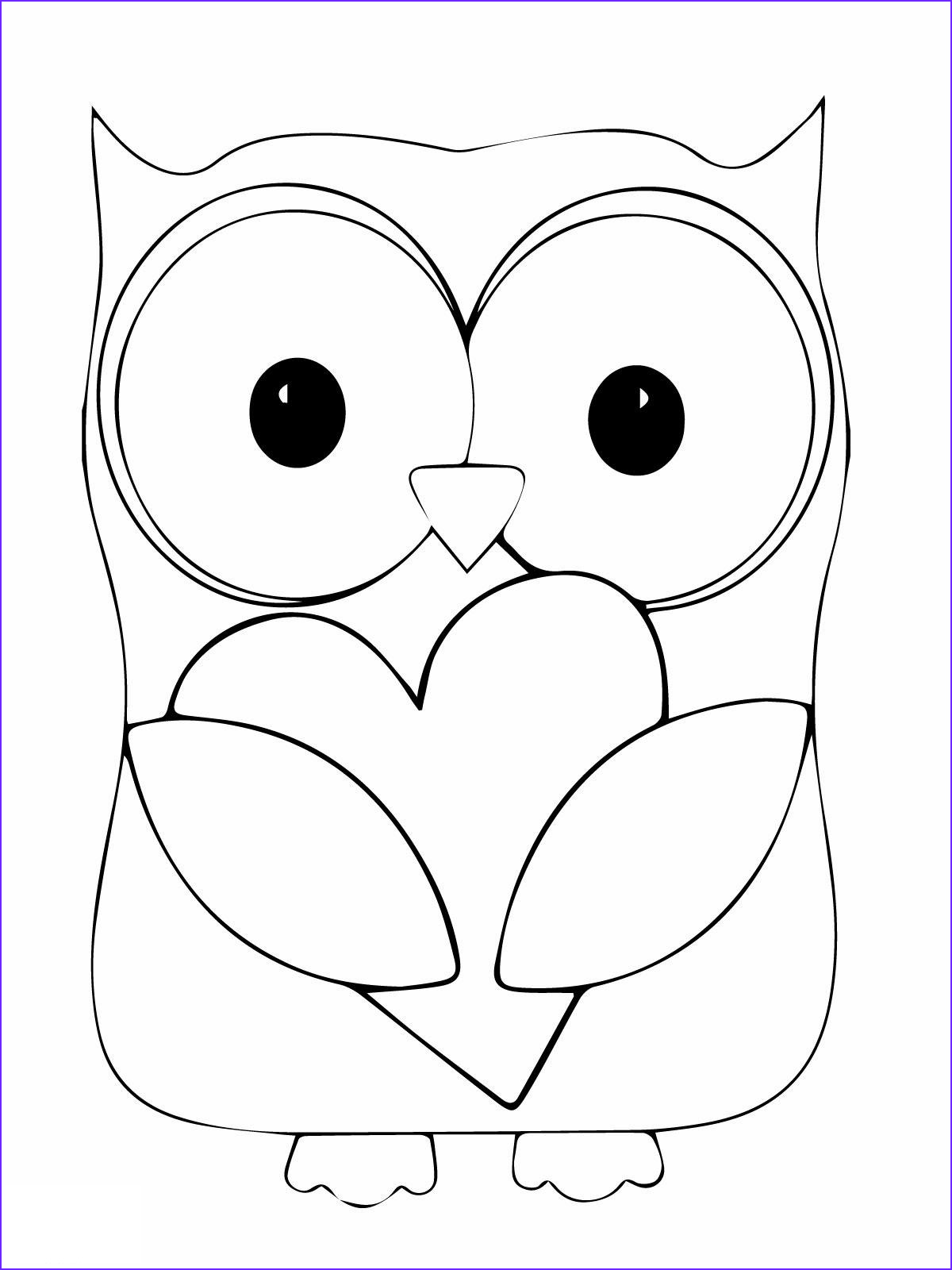 Free Printable Owl Coloring Pages Beautiful Gallery Owl Coloring Pages