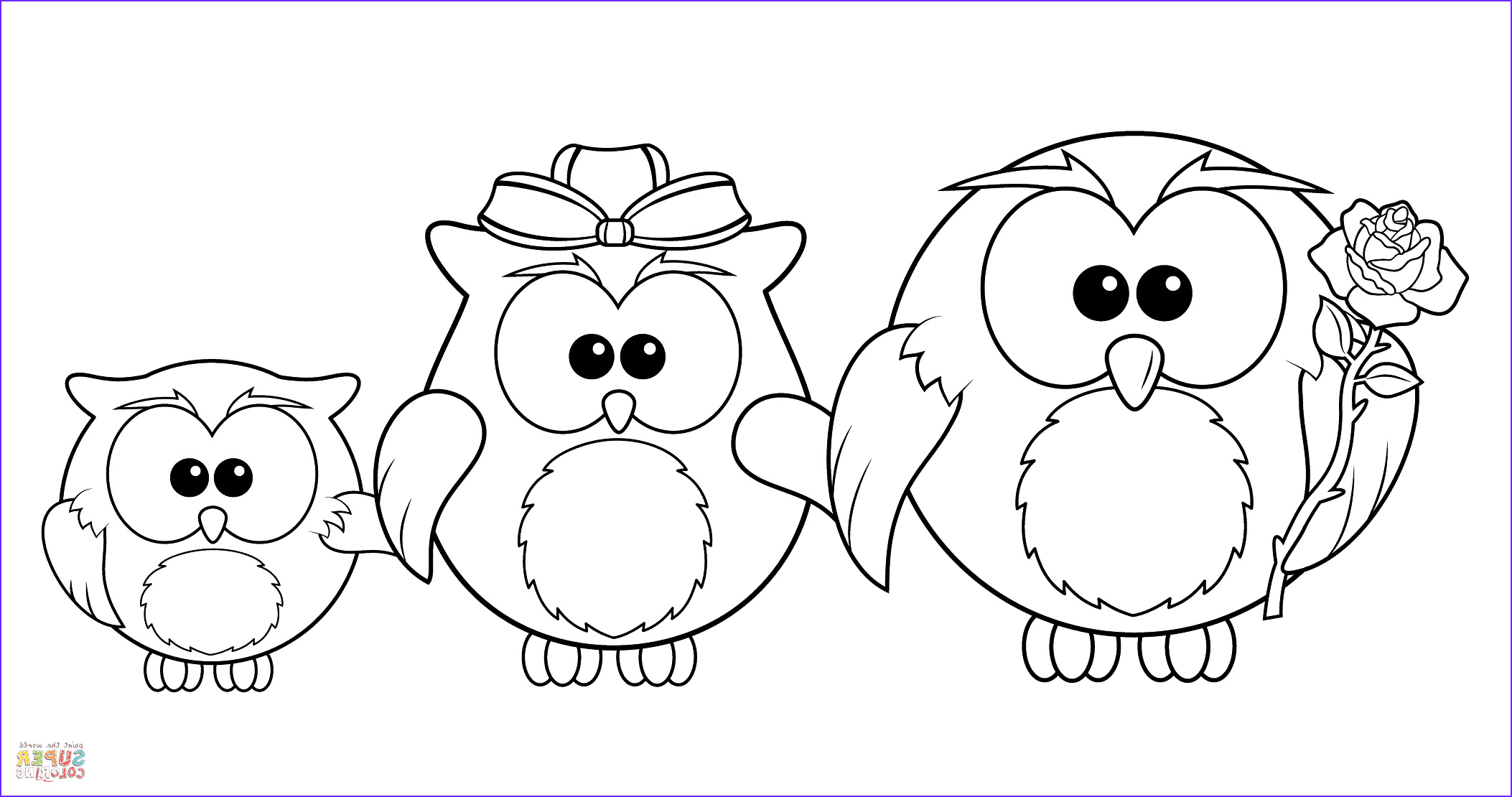 Free Printable Owl Coloring Pages Best Of Photos Owl Family Coloring Page