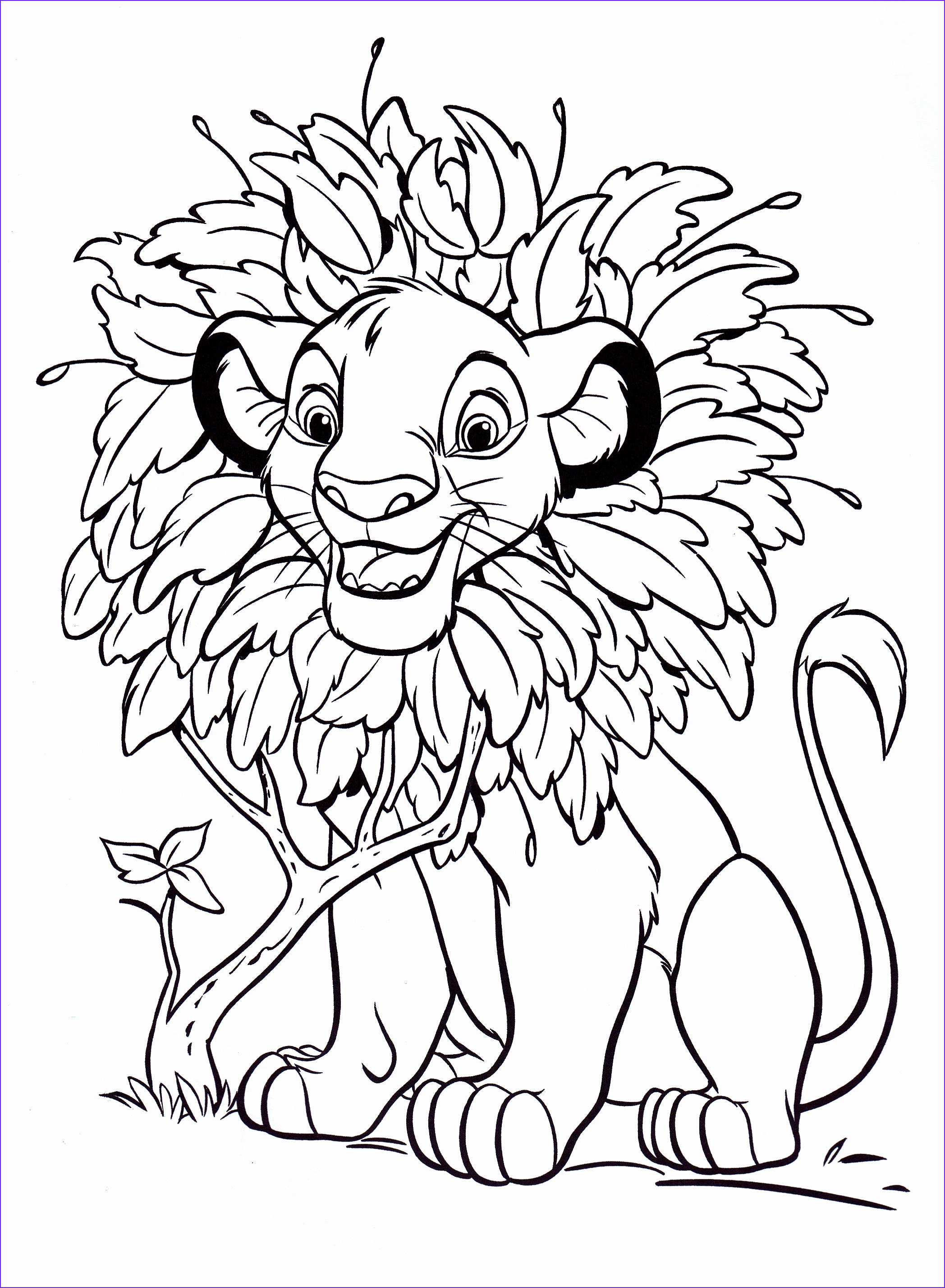 Fun Coloring Pictures New Gallery Free Printable Simba Coloring Pages for Kids